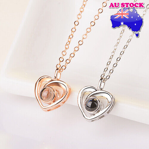 Jewellery - Classic 18K Gold Plated I LOVE YOU in 100 languages Love Heart Pendant Necklace