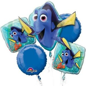 FINDING DORY BALLOON BOUQUET WITH HELIUM FREE DELIVERY