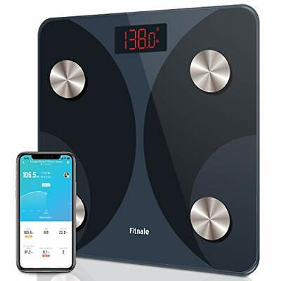 Fitnale Smart Digital Weight Scale, Sync w/ Fitbit and Google Fit, 400 lbs Black