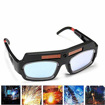 1 Pair Black Solar Auto Darkening Welding Goggle Safety Protective Welding Gl...