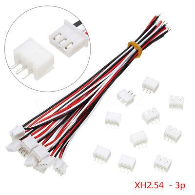 10sets Mini Micro JST XH2.54mm 3-Pin Anschlussstecker mit Drähte Kabel 150MM XY