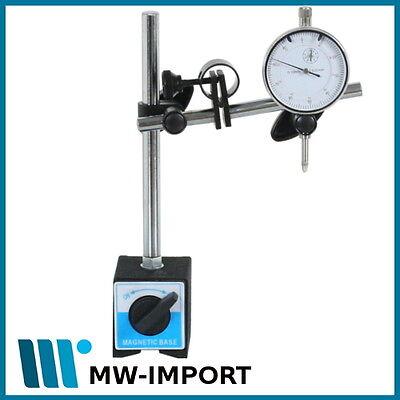 Magnet Messstativ mit Feinstelleinrichtung mit Messuhr 10 mm Magnetstativ (Messuhr Magnet)
