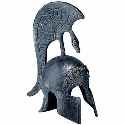Design Toscano Spartan Helmet Greek Replica Statue, 6 Inch, Cast Iron, Bronze