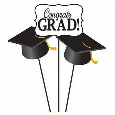 Graduation Mortar Board Centerpiece Sticks Graduation Party Supplies Decorations (Graduations Decorations)