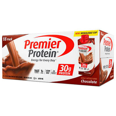 Premier Protein Chocolate Shakes  18 11Oz Shakes  New In Box