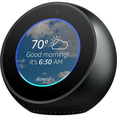 Amazon Echo Spot - Smart Alarm Clock with Alexa - Smart Assistant - Black
