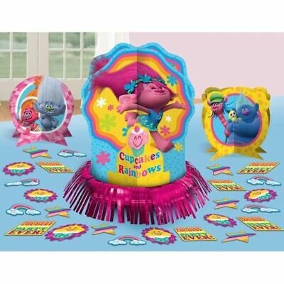 Center Table Decorations (Trolls Table Decorating Kit Birthday Party Supplies Center Piece)