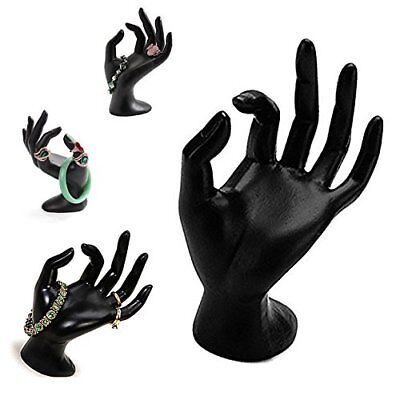 Black Polyresin Hand Form Jewelry Display Bracelet Ring Necklace Stand Holder