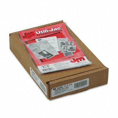 "Esselte Utili-jac Envelope - 5"" X 8"" - 50 / Box - Clear"