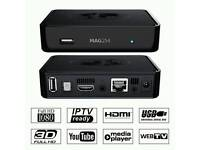 MAG254 IPTV BOX WITH 12 MONTH GIFT.