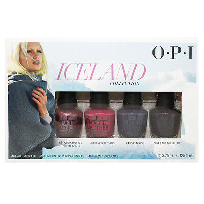 OPI Mini Iceland Collection Fall 2017 Nail Lacquer Set of 4 Mini