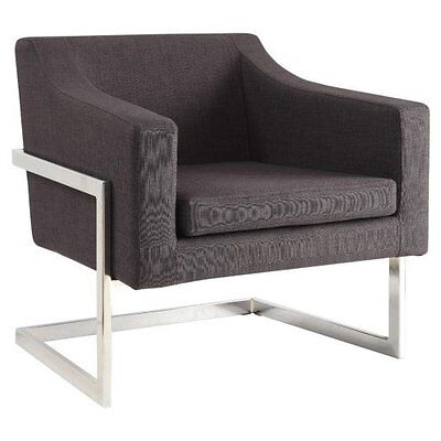 Coaster Accent Seating Contemporary Metal Frame Accent Chair In Grey 902530 New ()