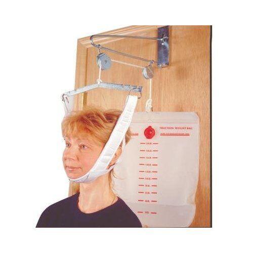 New Overdoor Cervical Traction Set Kit 20 lb Over Door Head Neck Pain Relief