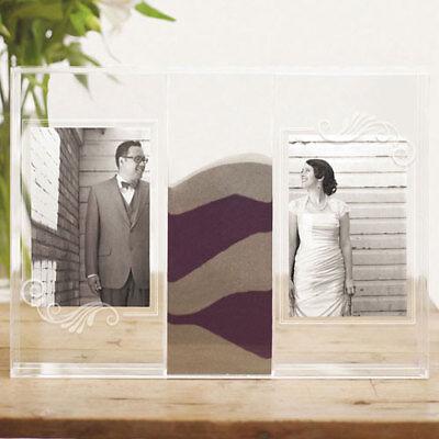 Clearly Love Sand Ceremony Shadow Box with Photo Frames Weddingstar