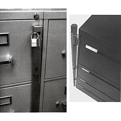New Locking Bar 4 Drawer Metal File Cabinet Office Locks Security Storage Safe