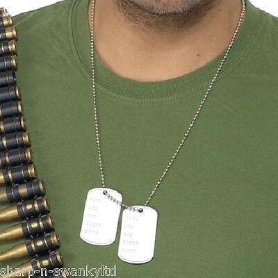 Herren Damen Armee Militär Hundemarken Militär Kostüm Kleid - Damen Marken Kostüm