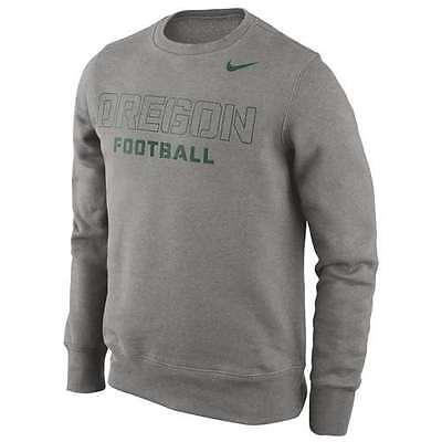 Nike Oregon Ducks Practice Crew Sweatshirt Gray (Oregon Crew Sweatshirt)