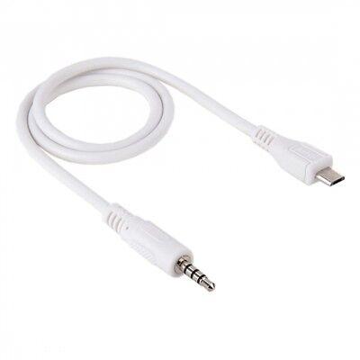 USB MICRO B 5 PIN TO 4-POLE 3.5mm MALE JACK AUDIO CAR...