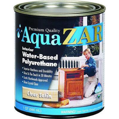 Aqua ZAR 32512 Interior Water-Based Polyurethane, Clear Satin, 1 Qt