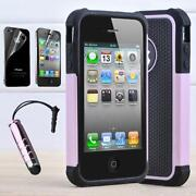 Hybrid Silicone Rubber Cover Case for Apple iPhone 4 4S