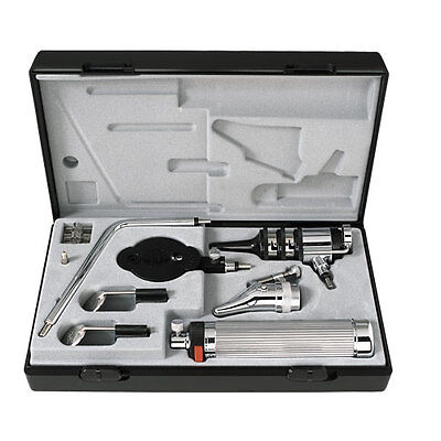 Riester Pocket Otoscope Ophthalmoscope Set 2.7v Vacuum Bulb In Case 2050