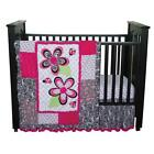 Pink Black and White Baby Bedding