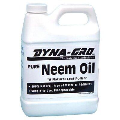 Dyna-Gro 946ml Aceite Neem Cuarto 100% Orgánico Hoja Brillo Insecticida Dyna Gro