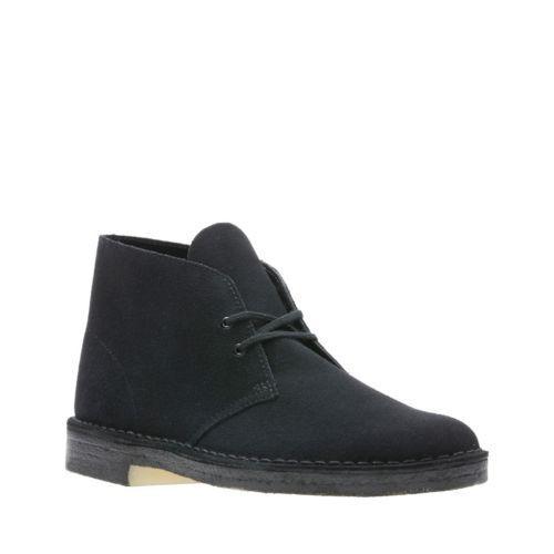 Clarks Originals Desert Boot Men's Black Suede Casual Shoes  26138227