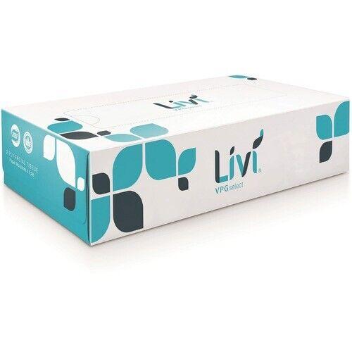 Livi Facial Tissue, 2-Ply, 100 Sheets, 30BX/CT, White (SOL11513)