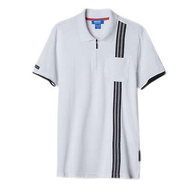 Adidas Originals Porche 911 Mens Cotton Pique Polo Shirt Top White AJ8113 R2J