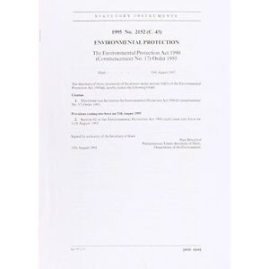 The-Environmental-Protection-Act-1990-Commencement-No-17-Order-1995