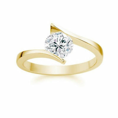 Solitär Diamant Ring 750 Gold lupenreiner Brillant 1,00ct R+/IF 3xEX GIA zertif. Solitär-diamant-ring Gia
