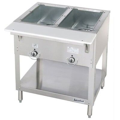 Propane Steam Table - NEW 2 Well LP Propane Steam Table Wet Bath Duke WB302-LP #5940 Commercial Food