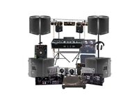 DJ Speaker Hire from £50, PA Sound System, Wedding Speaker System, DJ Equipment Hire, Covers London