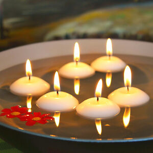 20PCS Round Water Floating Candle Disc Floater Candles