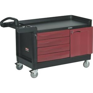 Rubbermaid 4548 TradeMaster™ Cart with 4-Drawers and 1-Cabinet,