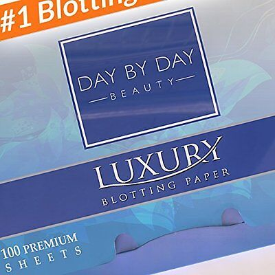 Makeup Blotting Papers - 2 Handy Packs of 100 Luxury Oil Absorbing Paper Sheets
