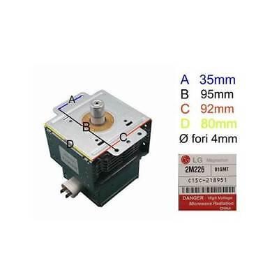 Magnetron LG 6 7/12ft226 for Microwave Oven Delonghi Samsung Whirlpool Smeg Rex