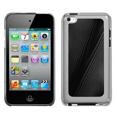 For Apple iPod Touch 4 HARD Protector Metal Cosmo Case Snap on Cover Black -