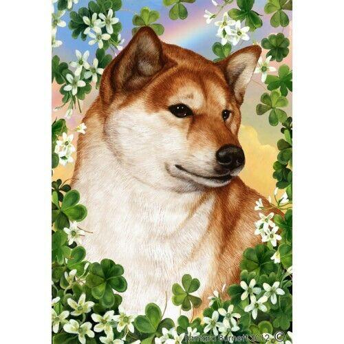 Clover Garden Flag - Shiba Inu 313251