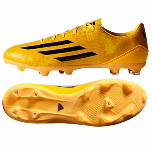 ADIDAS MESSI F10 FG FIRM GROUND SOCCER SHOES Solar Gold/Blac