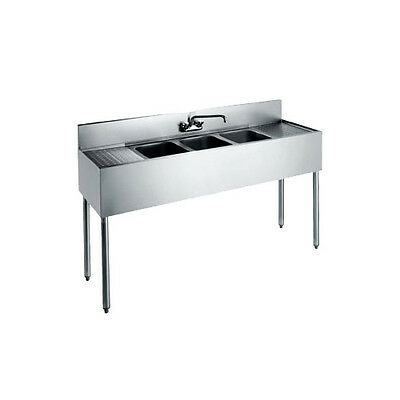 Krowne Metal Cs-1872 72 Three Compartment Convenience Store Sink