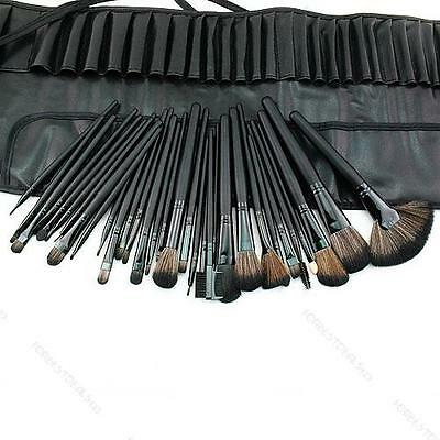 32 PC Brush New Pro Cosmetic Makeup Brush Set Kit With Case on Rummage