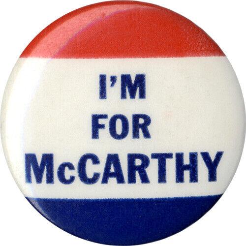 1952 Cold War Era Joseph Joe McCarthy Wisconsin Senate Campaign Button (1271)
