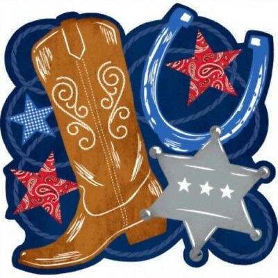 Western Party  Cutout Supplies Bandana Blue Jeans Red Paisley Decoration](Red Bandana Decorations)