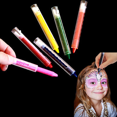 Dazzling Toys Pack of 6 Colored Face Paint Crayon Sticks Kids Face Body Makeup](Kids Halloween Face Paint)