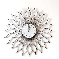 31''Extra Large Jewellry Modern Wall Clock Analog Novelty Iron Home Decor Indoor