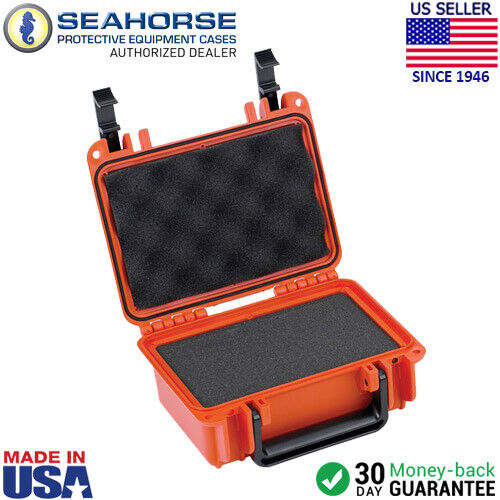 Seahorse SE120 Case w/ Foam Orange