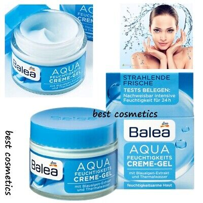 NIB Balea Aqua Day Care Intense Moisturizing Cream Gel With Algae Vegan 50 -