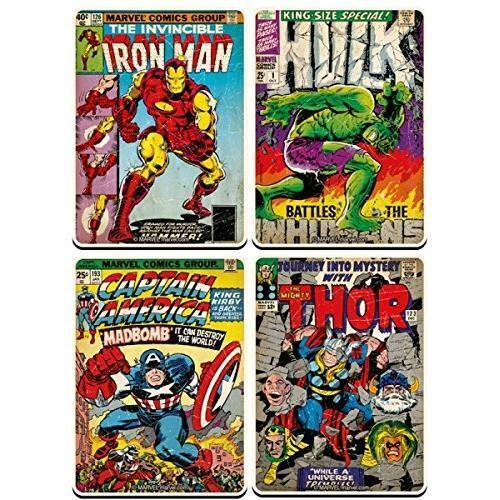 Marvel Comics - Comic Book Cover Coaster Set - New & Official Marvel Comics